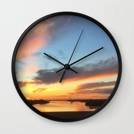 South Jersey Parkway Skies Wall Clock