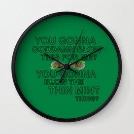 IASIP - Ass Kickers United Against Thin Mints Wall Clock