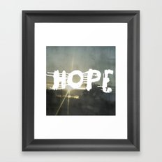 hope street Framed Art Print
