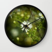 bee Wall Clocks featuring Bee  by Rob Hawkins Photography