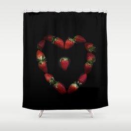 Heart of strawberries Shower Curtain