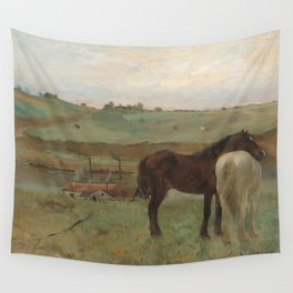 Horses in a Meadow Wall Tapestry