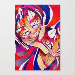 Cat Interplay 1 Canvas Print