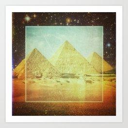 Pyramids Art Print