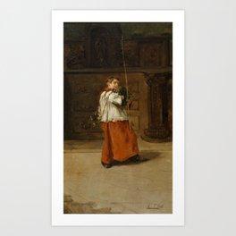 San Pietro in Vincoli by Constantin Hansen, 1836 Art Print