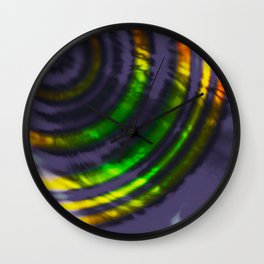 Abstract Stoplight & Sound Wall Clock