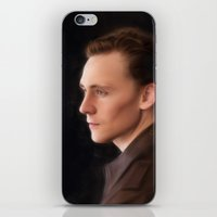 tom hiddleston iPhone & iPod Skins featuring Hiddleston by Andi Robinson
