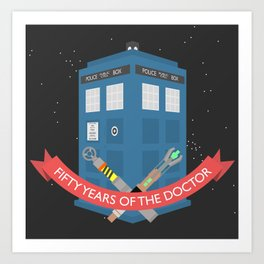 Fifty years of The Doctor Art Print