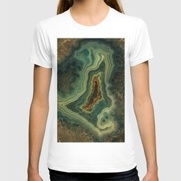 The world of gems - green agate T-shirt