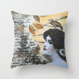 Romantic Lady Throw Pillow