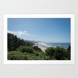 Californian Coastline Art Print