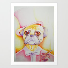 Fancy Pug Art Print
