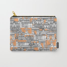Paris toile cantaloupe Carry-All Pouch