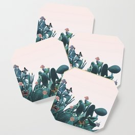 Cactus & Flowers - Follow your butterflies Coaster