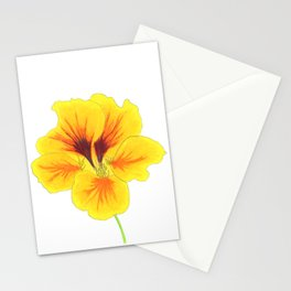 Indian cress flower - illustration Stationery Cards