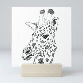 Patterned Giraffe Mini Art Print