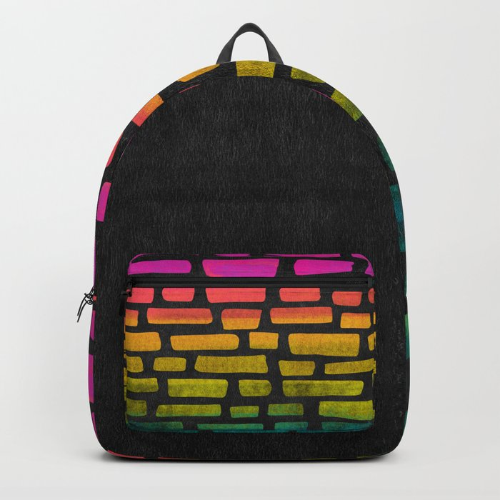 Rainbow Ombre Brick Backpack