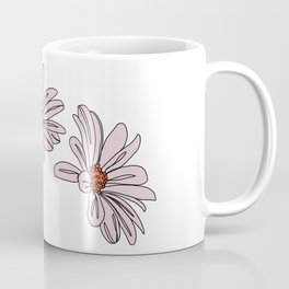 Daisy botanical line illustration - Bud Coffee Mug
