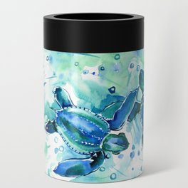 Turquoise Blue Sea Turtles in Ocean Can Cooler