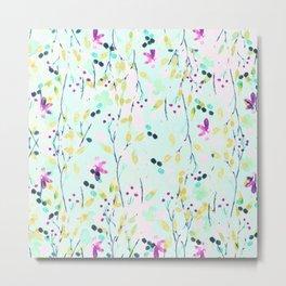 pastel fleurettes Metal Print