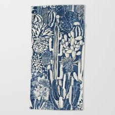 Indigo cacti Beach Towel