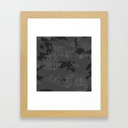 Hessian camo  Framed Art Print
