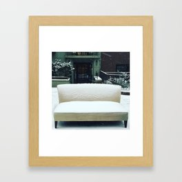 The Cool Couch on the Upper West Side Framed Art Print