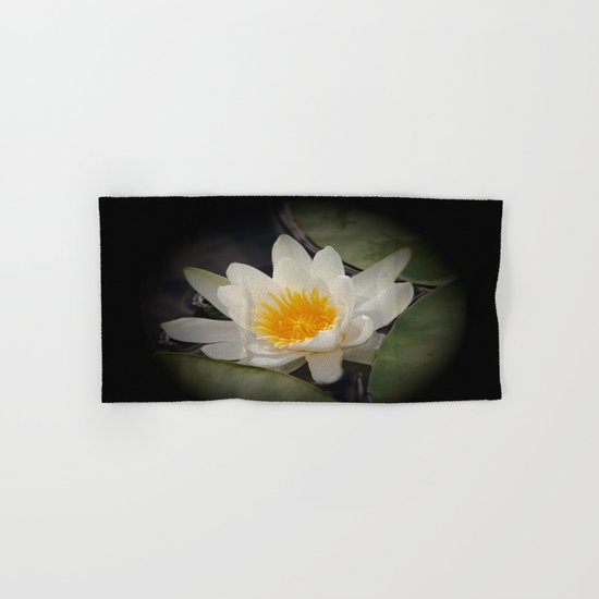 White Waterlily Hand & Bath Towel