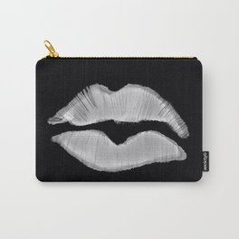 Black and white lip mark Carry-All Pouch