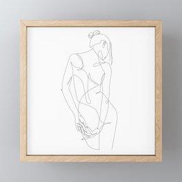ligature - one line art Framed Mini Art Print