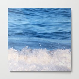Ocean Froth Metal Print