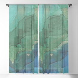 Ocean gold Sheer Curtain