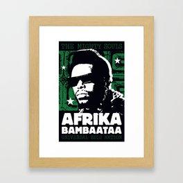 The Mighty Souls: Afrika Bambaataa Framed Art Print