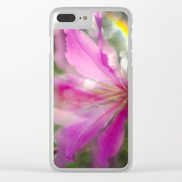 Flare Flower Clear iPhone Case