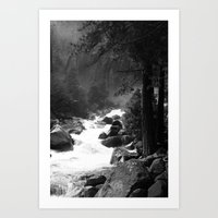 archan nair Art Prints featuring Whiteout Yosemite-2 by Deepti Munshaw