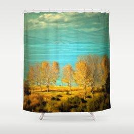 Ohrid Lake blue Shower Curtain