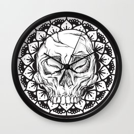 Royal Stain Mandala Skull Wall Clock