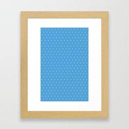 Blue Six-Star Framed Art Print