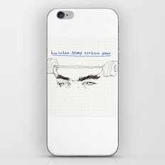strong eyebrows iPhone & iPod Skin