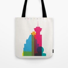 Shapes of Vancouver. Accurate to scale. Tote Bag