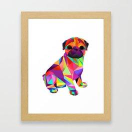 Pug Dog Molly Mops Framed Art Print