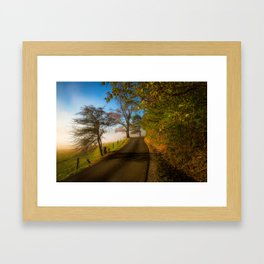 Smoky Morning - Whimsical Scene in Great Smoky Mountains Framed Art Print