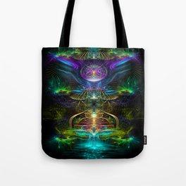 Neons - Fractal - Visionary - Manafold Art Tote Bag