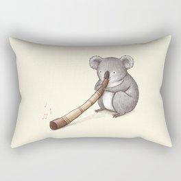 Koala Playing the Didgeridoo Rectangular Pillow