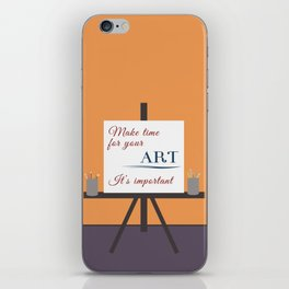 Make Time For Art (Colorful Calligraphy) iPhone Skin