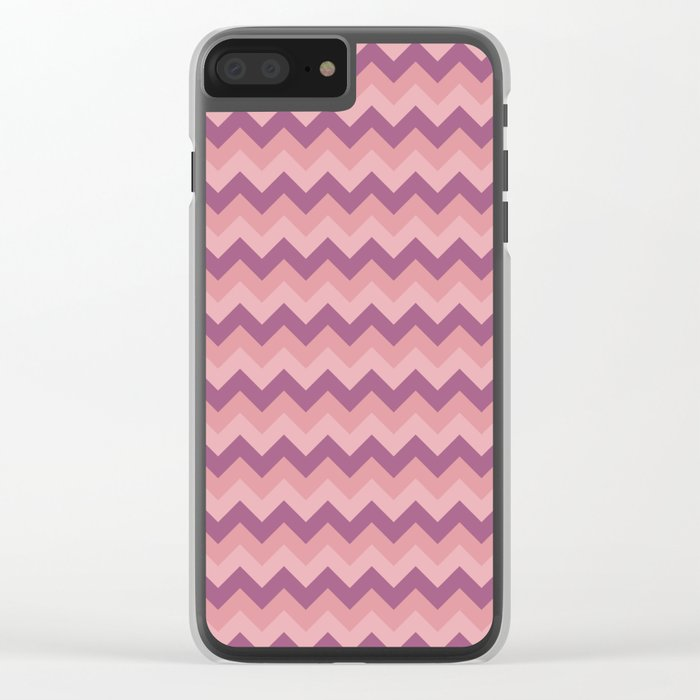 Colorful Chevron Pattern III Clear iPhone Case