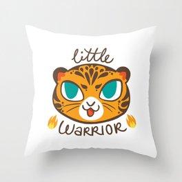 Baby Big Cats Little Warrior Tiger Cub Throw Pillow