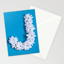 Turquoise Monogrammed J Stationery Cards