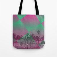 miami Tote Bags featuring Miami by Sander Smit