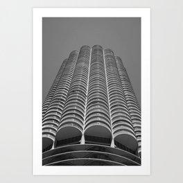 Marina City Tower Photo, Chicago, Architecture Art Print